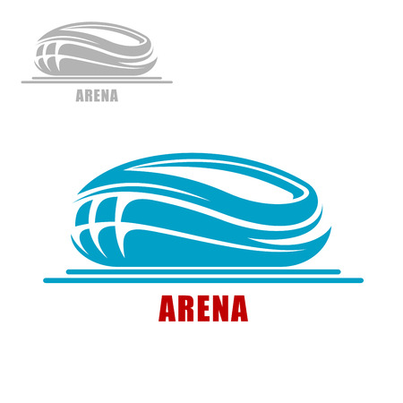 sports form: Modern sports arena or stadium abstract icon in the form of a round bowl Illustration