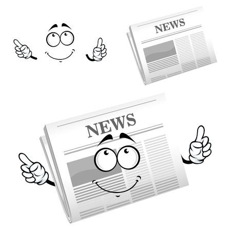 advertisement: Cartoon Wochenzeitung Charakter mit gro�en grauen Kopf News, f�r die Medien oder Werbung Design