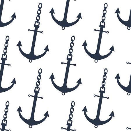 ancre marine: Seamless des ancres de navires gris avec chan pour le transport maritime et le design nautique