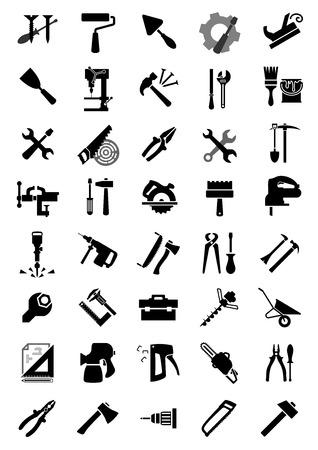 jack hammer: Black icons of screwdrivers