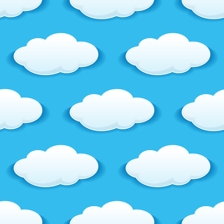 ร   ร   ร   ร  ร ยข  white clouds: Seamless pattern of white clouds on blue sky for wallpaper or background design
