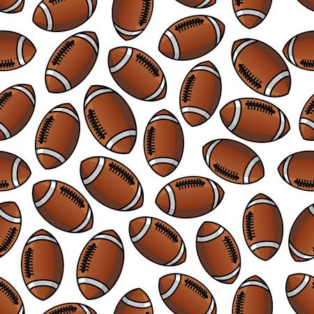 스포츠 게임 디자인을위한 미식 축구 또는 럭비 공 패턴 일러스트