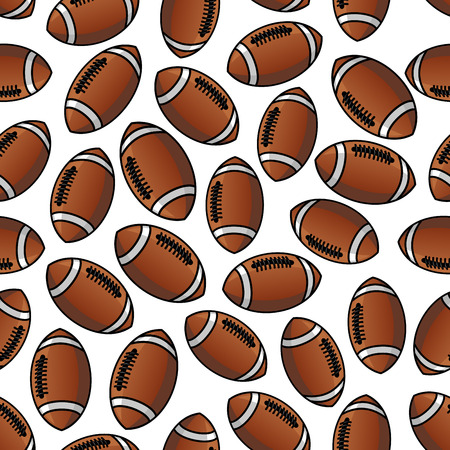American football or rugby balls pattern for sport game design