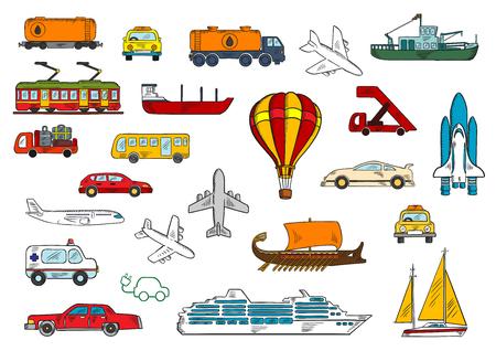 Coches, Autobuses, Taxis, Ambulancias, Aviones, Trenes
