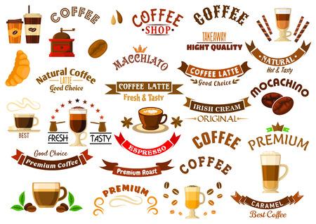 Kaffeegetränke Menü-Design-Element Mit Glastasse Macchiato Mit ...