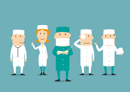 medical occupation: Medical professions. Medicine occupation human characters. Doctor, dentist, surgeon, nurse, ophthalmologist, cardiologist otolaryngologist therapist urologist assistant in hospital uniform