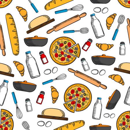 Cucina E Utensili Da Cucina Senza Soluzione Di Sfondo. Carta Da ...