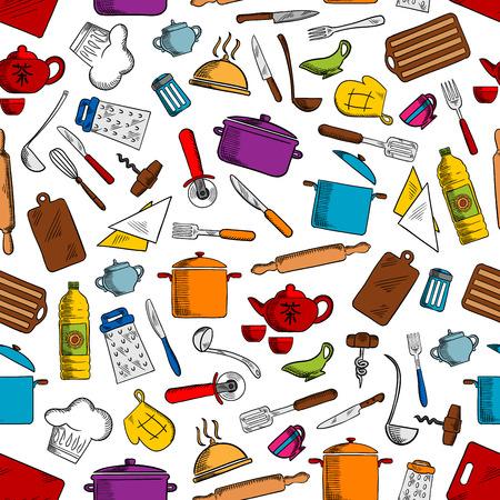 Strumenti Di Cottura Della Cucina. Elettrodomestici Da Cucina E ...
