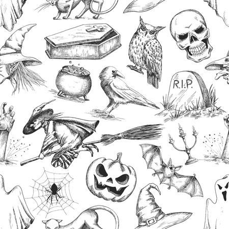 Halloween-Nacht-Party Dekoration Embleme. Celebration Design ...