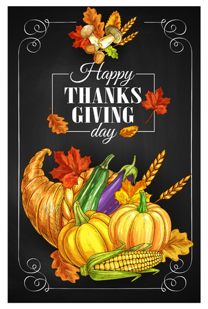Thanksgiving Day greeting banner or posters. Illustration