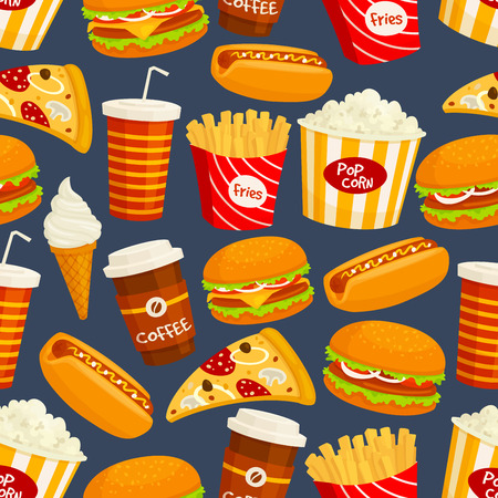 La comida rápida patrón transparente.