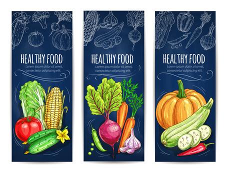 Vegan ontwerp van de menukaart Stock Illustratie