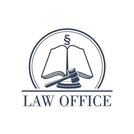법률 사무실 또는 센터 아이콘 판사 디노, 법무부 법률 부호, silcrow 섹션 기호 또는 단락에 단락의 기호. 변호사 또는 옹호 및 법률 고문 또는 공증인을 일러스트