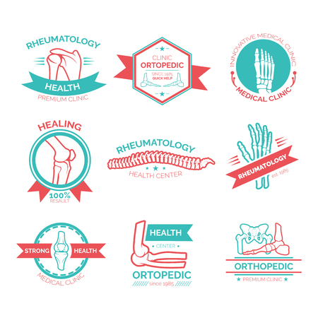 rheumatology: Orthopedic and rheumatology medicine symbol. Illustration