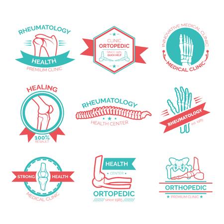 simbolo medicina: Ortopédica y reumatología símbolo de la medicina.