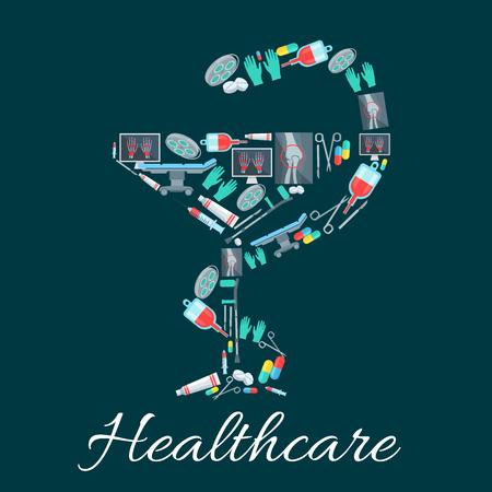 simbolo medicina: La medicina y la farmacia símbolo de la serpiente y la taza
