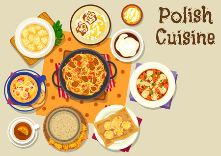 european: Polish cuisine icons