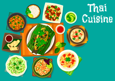 Thai cuisine icons
