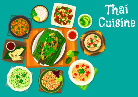 Thai cuisine icons