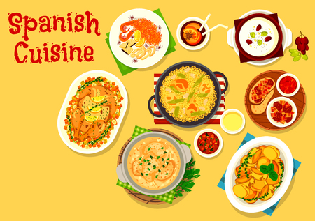 Spanish cuisine icons