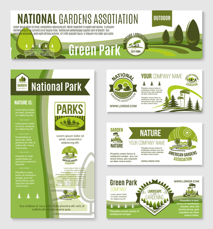 Gardening or green nature templates