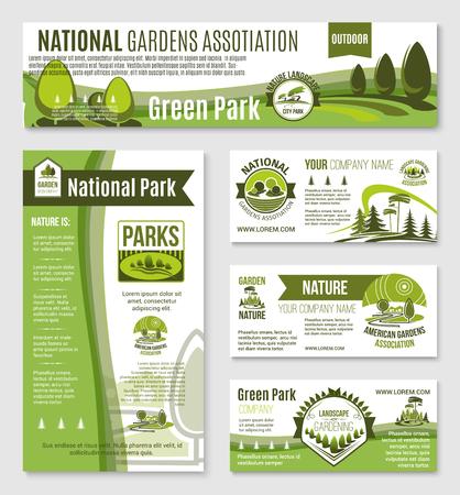 Tuin- of groene natuurschema's