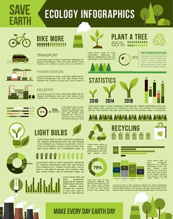 Doğa koruma vektör Infographics şablon Stok Fotoğraf - 75160293
