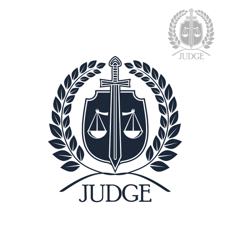 lawful: Lawyer firm, judge and law office symbol