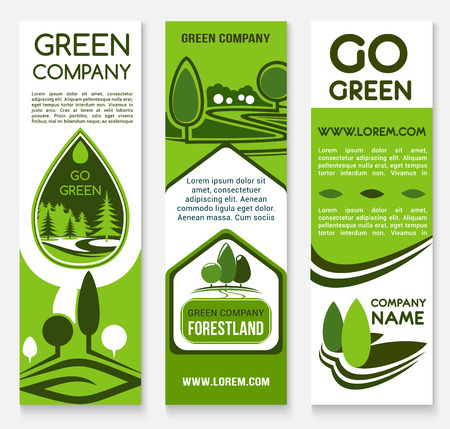 identity template: Eco business, green company banner template