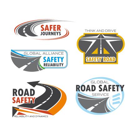 symbol traffic: Road and traffic safety service symbol set design Illustration