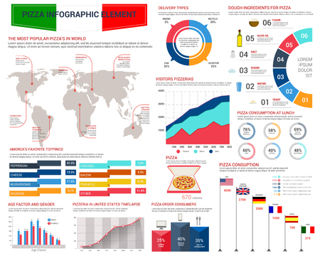 reports: Pizza fast food infographic template design