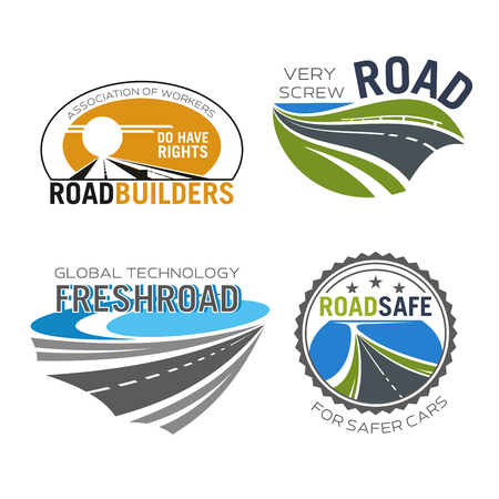 a way: Road construction, build and repair service icon