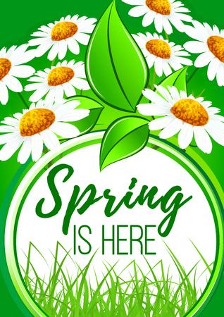 Spring is here flower frame border design