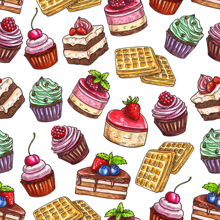 fruit cake: Pastry pattern of patisserie desserts