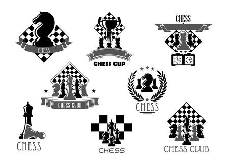 スポーツ デザインのチェス クラブまたはトーナメント アイコン