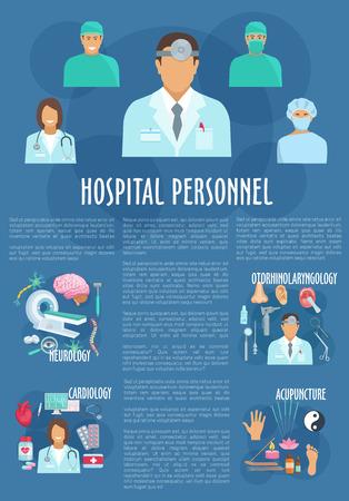 Medical personnel poster for healthcare design