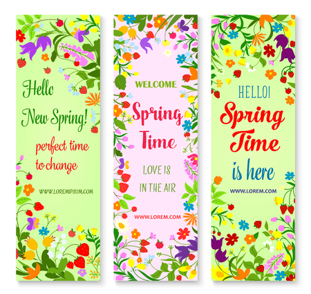 Vector banners set for spring time greetings