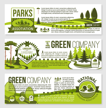 Landscaping and gardening banner template design