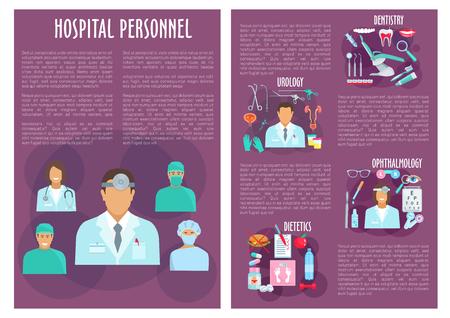 Medical personnel, doctor, nurse brochure design
