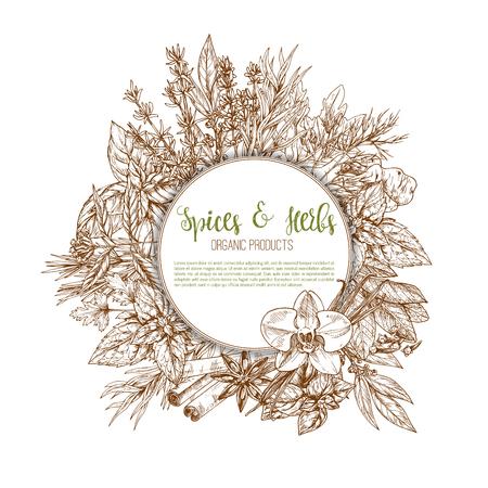 leaf vegetable: Spices, herbs and leaf vegetable seasoning poster