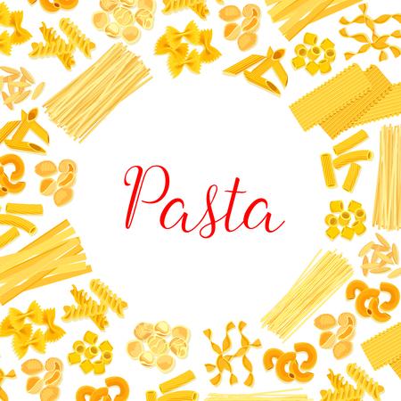 Italian pasta, spaghetti, macaroni poster design