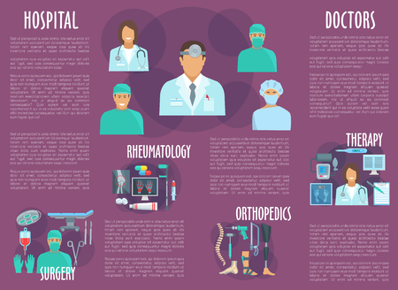 rheumatology: Doctor, nurse brochure for healthcare personnel Illustration