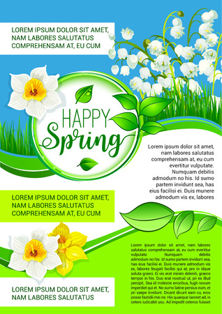 Vector poster for spring holiday greetings