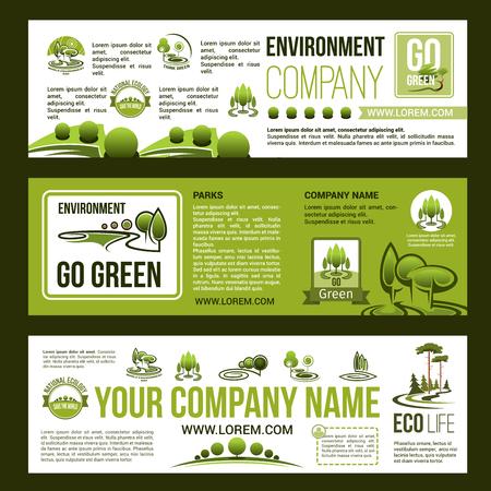 Groene bedrijf vector bedrijf banners instellen.