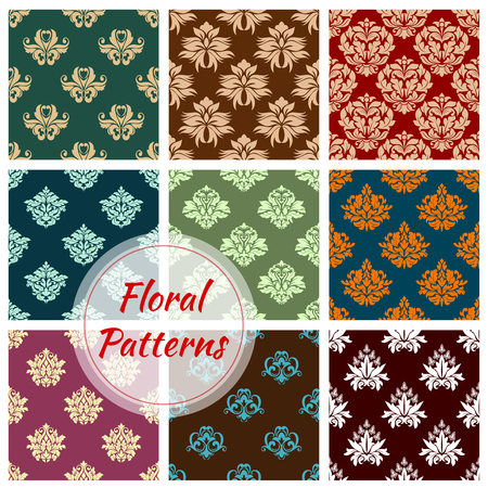 Floral pattern of seamless flower vector ornament