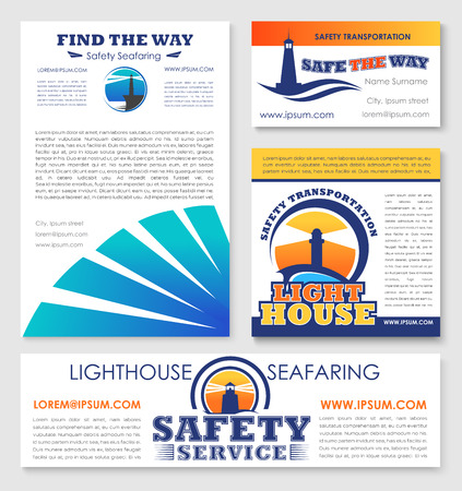 Safety transportation marine company vector design