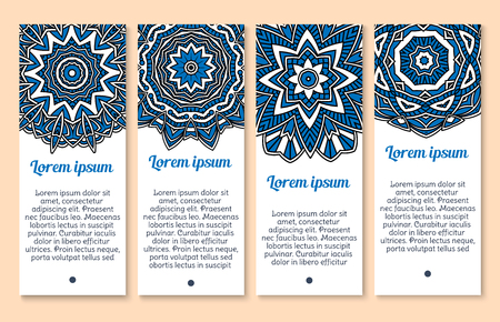 Vector pattern Paisley or Mandala ornament banners