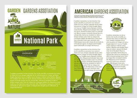 Vector posters voor landschap tuinieren bedrijf Stock Illustratie