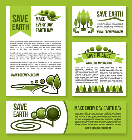 water: Save Earth and Planet vector nature ecology design