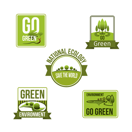 Nature and earth environment eco vector icons